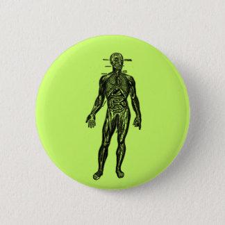 See Through Man 2 Inch Round Button