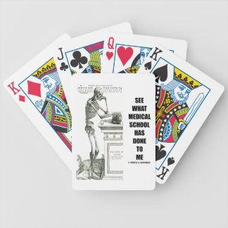 See What Medical School Has Done To Me (Vesalius) Bicycle Playing Cards