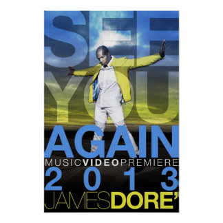 See You Again Music Video Promo Poster float Front