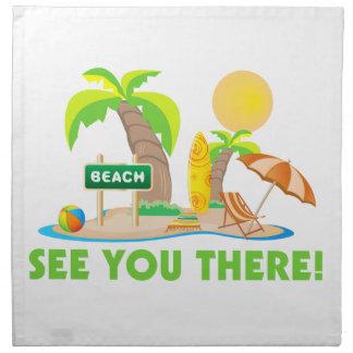 See You At The Beach Cloth Napkin