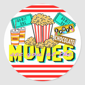 See You At The Movies Round Sticker
