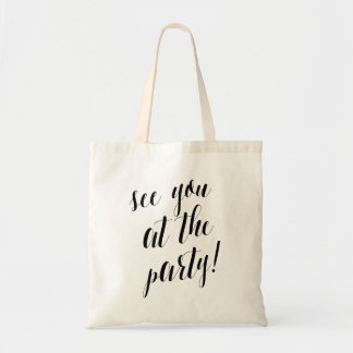 See You At the Party Bachelorette Tote