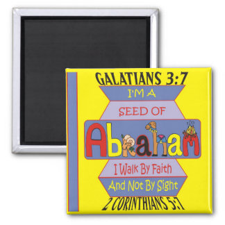 Seed of Abraham Square Magnet