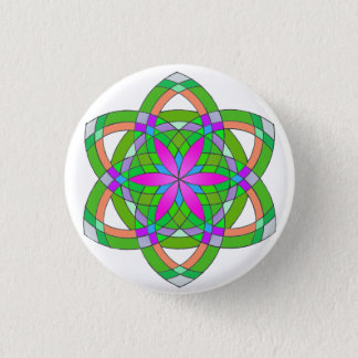 Seed of life 1 inch round button