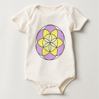 Seed of Life Angel 03 Baby Bodysuit