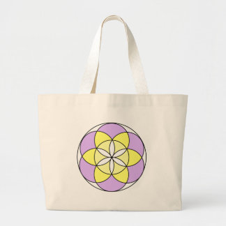 Seed of Life Angel 03 Large Tote Bag