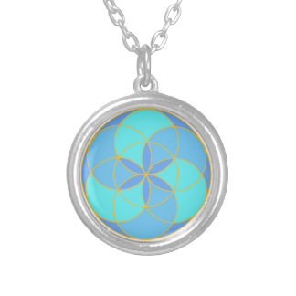 Seed of Life Angel 11 Silver Plated Necklace