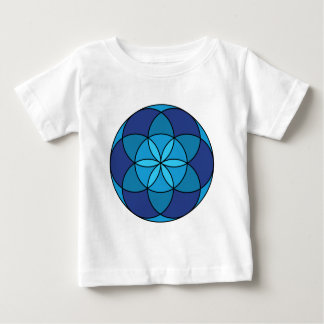 seed of life blue on blue baby T-Shirt
