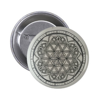 Seed of Life Mandala 2 Inch Round Button