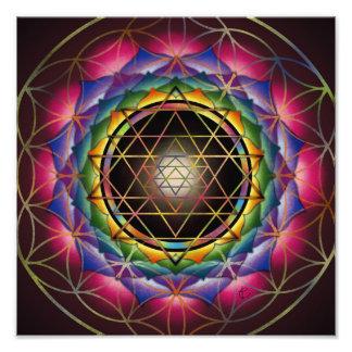 Seed of Life Mandala Print by Rachel C Bemis Art Photo