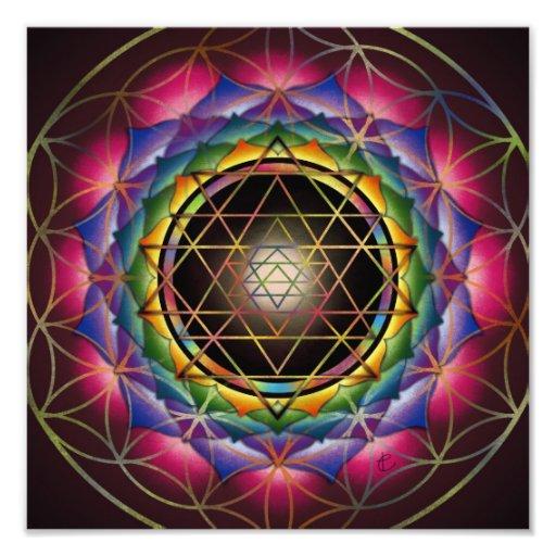 Seed of Life Mandala Print by Rachel C. Bemis Art Photo