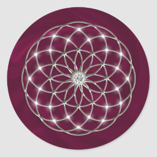 Seed OF life - tube torus - Flower OF life Classic Round Sticker