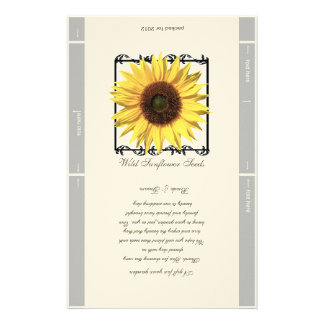 Seed Packet Template Wedding Favor Customized Stationery