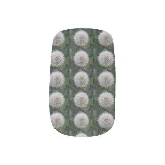 Seeding Dandelion Flower False Nails Minx Nail Art