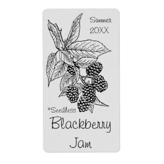Seedless Blackberry Jam Jar Label (Customize) Shipping Label