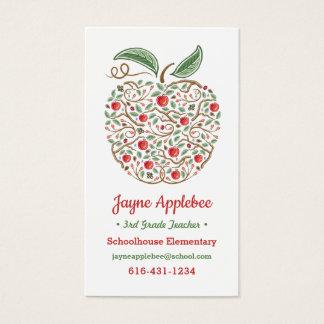 Seeds of Knowledge Teacher's Apple Business Card