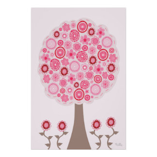 Seeds of Pink Love Tree Poster