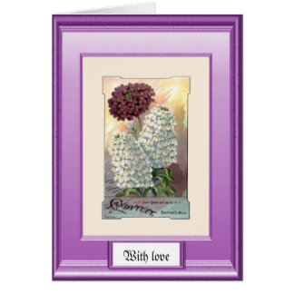 Seeds of the past, Purple and white Card