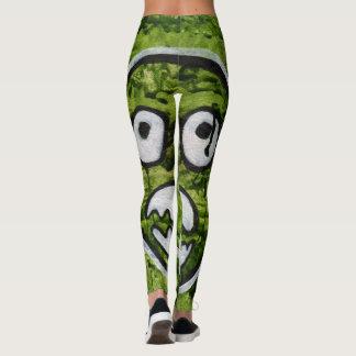 Seedy Pete Skull Odd Whimsical Monster Art Quirky Leggings