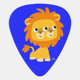 Seeing Double Cute Cartoon Lion Guitar Pick
