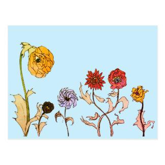 Seeing Flowers Postcard