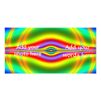 Seeing in Fluorescent Neon Fractal Photo Card Template