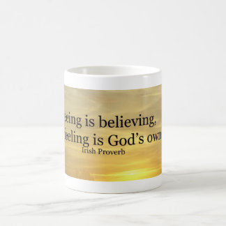 Seeing is believing classic white coffee mug