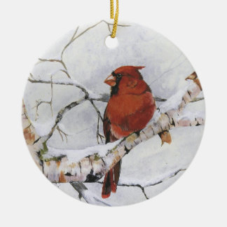 Seeing Red.by Nancy Dezotell Ceramic Ornament