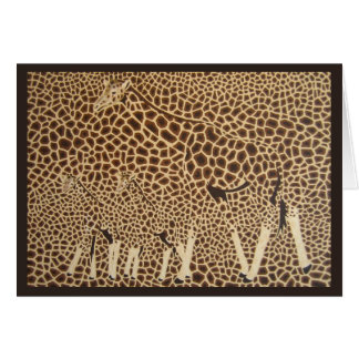 Seeing Spots (Giraffe mama and babies) Card
