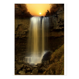 Seeing the Light by Waterfall Postcard