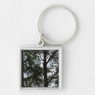 Seek And You Shall Find Silver-Colored Square Keychain