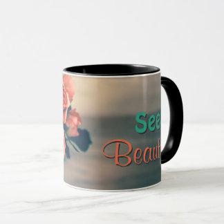 Seek Beauty Flower Mug