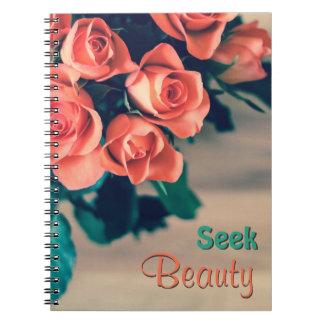 Seek Beauty Flower Notebook