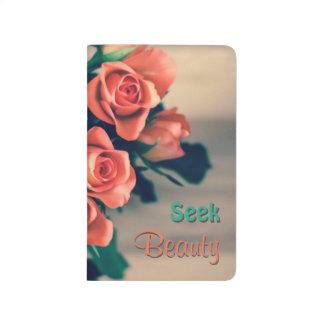 Seek Beauty Flower Pocket Journal
