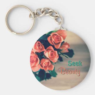 Seek Beauty Keychain