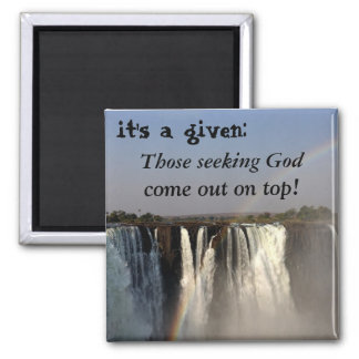 Seek God Square Magnet