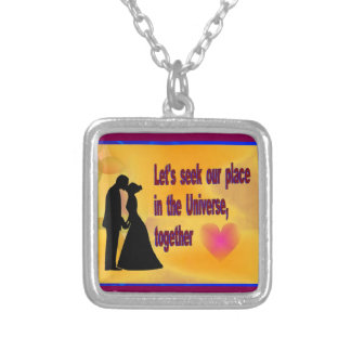 Seek our Place in Universe Silver Plated Necklace