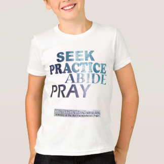 Seek-Practice-Abide-Pray Youth Teeshirt T-Shirt