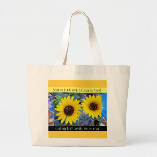 """Seek the Lord"" tote bag"