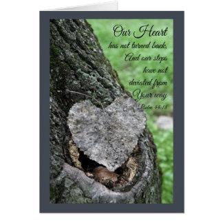 Seek With Your Heart Adult Baptism Card