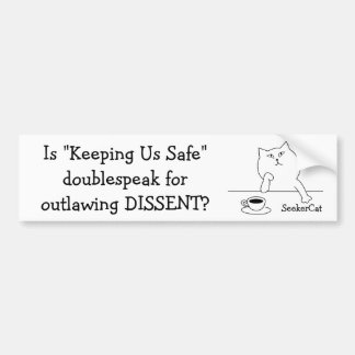 SeekerCat Dissent Bumper Sticker