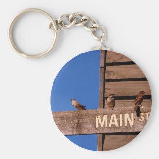 Seeking Direction Basic Round Button Keychain