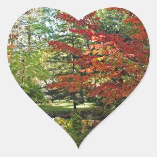Seeking Solitude Heart Sticker