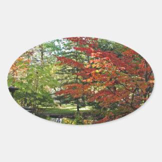 Seeking Solitude Oval Sticker