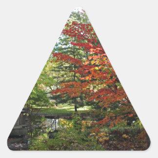 Seeking Solitude Triangle Sticker
