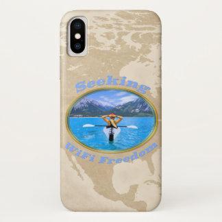 Seeking WiFi Freedom Kayaker Design Case-Mate iPhone Case