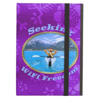 Seeking WiFi Freedom Kayaker Design Cover For iPad Air