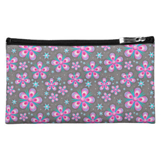 Seemless Floral Pattern Cosmetic Bag