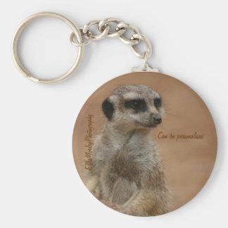 Seemply a meerkat keychain... basic round button keychain