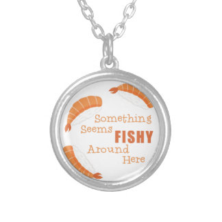 Seems Fishy Silver Plated Necklace